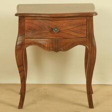Ivana Pinza One Drawer Side Table in Stain