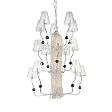 Families 21 Light Chandelier with Flexible Arms