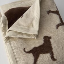 Chocolate Lab Cotton / Acrylic Throw