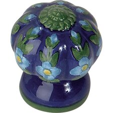 Ceramic Fluted Flowers Knob