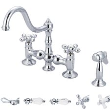 Janelle Double Handle Kitchen Faucet with Side Spray