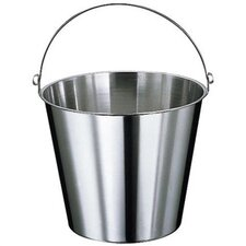 Graduated Stainless Steel Bucket with Optional Lid