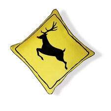 Reindeer Crossing Pillow