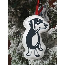 Hello Doxie Cut Out Ornament