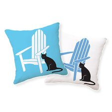 Adirondack Chair with Cat Pillow