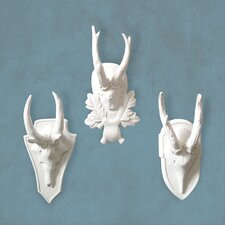 State Hall Roe Deer Wall Plaques (Set of 3)