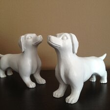 Modern Mini Dachshund Figurines (Set of 2)