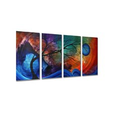 "Cosmic Collision by Megan Duncanson, Abstract Wall Art - 23.5"" x 48"""