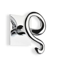 Urania Wall Mounted Double Robe Hook in Chrome