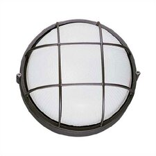 Large Round Outdoor Bulk Head Wall/Ceiling Mounted Lantern