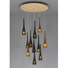 Fusion Jack Eleven Port Wood Round Canopy in Bronze