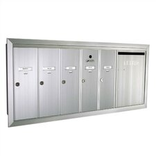 1260  Vertical Unit With Outgoing Mail Slot and Surface Mount Collar
