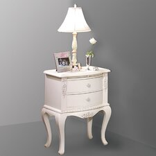 Cheri 2 Drawer Nightstand