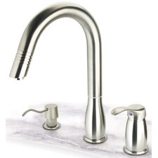 One Handle Widespread Gooseneck Kitchen Faucet