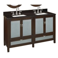 "60.25"" Double Sink Bathroom Vanity Set"
