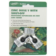 Zinc Hose Y with Shut-Off
