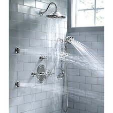 Portsmouth Diverter Shower Faucet Trim Kit with Metal Cross Handle