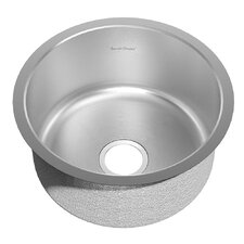 "Prevoir 23.25"" x 21.62"" Round Stainless Steel Undermount Single Bowl Kitchen Sink"