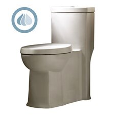 Boulevard Siphonic Dual Flush Right Height 1.1 GPF / 1.6 GPF Elongated 1 Piece Toilet with Seat