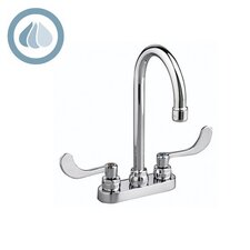 Monterrey Lever Handles Centerset Bathroom Faucet with Less Drain
