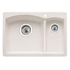 "Diamond 20.63"" x 15"" Drop-In Prep Kitchen Sink"