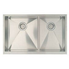 "Precision 33"" x 20.5"" Bowl Kitchen Sink with Apron"