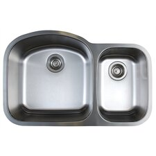 "Stellar 31.75"" x 20.5"" Double Bowl Undermount Kitchen Sink"