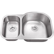 "34"" x 23"" Double Bowl 16 Gauge Kitchen Sink"