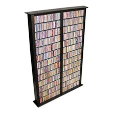 VHZ Entertainment Large Double Multimedia Storage Rack