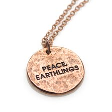 Peace, Earthlings Copper Fine Chain