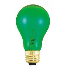 25W A19 Bulb in Transparent Green