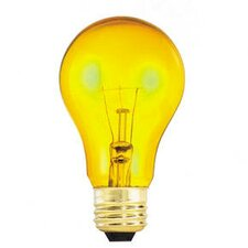 25W Transparent A19 Incandescent Bulb in Yellow