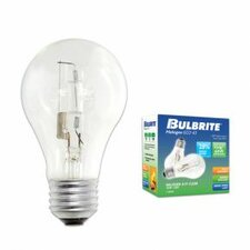 72W A19 Halogen Bulb in Clear (Pack of 2)