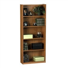"SystemBuild 68"" H Five Shelf Bookcase in Oak"