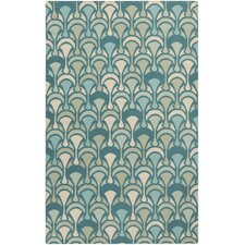 Voyages Antique White/Blue Haze Rug