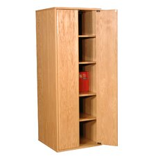 Modular Real Oak Wood Veneer Oak Panel Enclosed Storage Cabinet