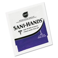 Professional Sani-Hands Ii Sanitizing Wipes, 100 Packets/Box