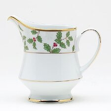 Holly and Berry Gold 8 oz. Creamer