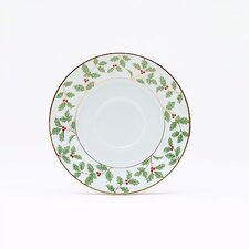 "Holly and Berry Gold 6"" Saucer"