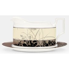 Twilight Meadow 16 oz. Gravy Boat with Tray