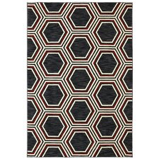 Panache Black Honey Queen Rug