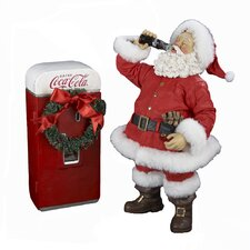 Coca-Cola Santa with Vending Machine Figurine