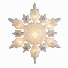 10 Light Snowflake Tree Topper
