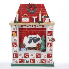 Wooden Chimney Christmas Advent Calendar with Ornament