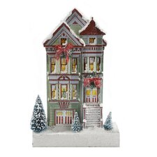 Kringle Lane LED Queen Anne House Figurine