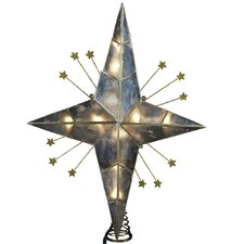 Capiz 10 Light Bethlehem Star Tree Topper