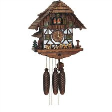 "15.5"" Chalet 8-Day Movement Cuckoo Clock With Beer Drinkers"