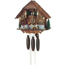 "15.5"" Cuckoo Clock with Beer Drinkers Getting Struck Over the Head"