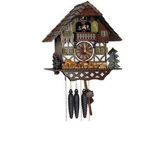 "14"" 8-Day Movement Cuckoo Clock with Bambis"