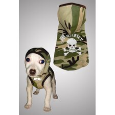 Camo Monster Dog Hoodie in Green